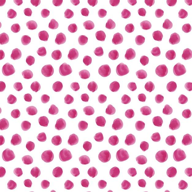 水彩ドット柄ピンク色 無料ベクター