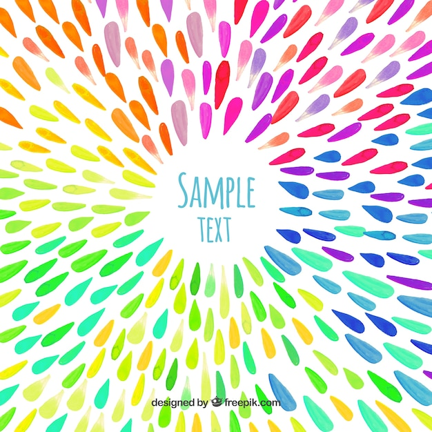 Watercolor drops background Free Vector