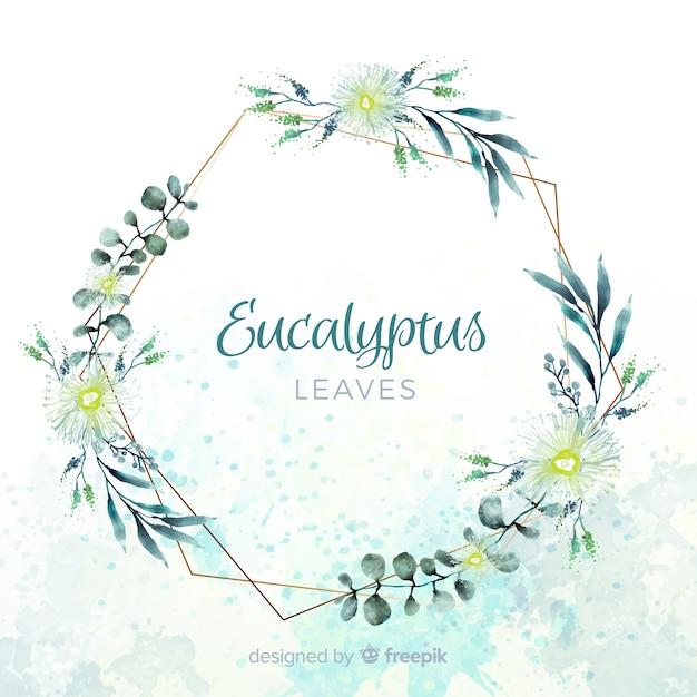 Watercolor eucalyptus leaves Free Vector