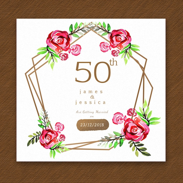 Watercolor floral anniversary invitation card vector free download watercolor floral anniversary invitation card free vector stopboris Choice Image