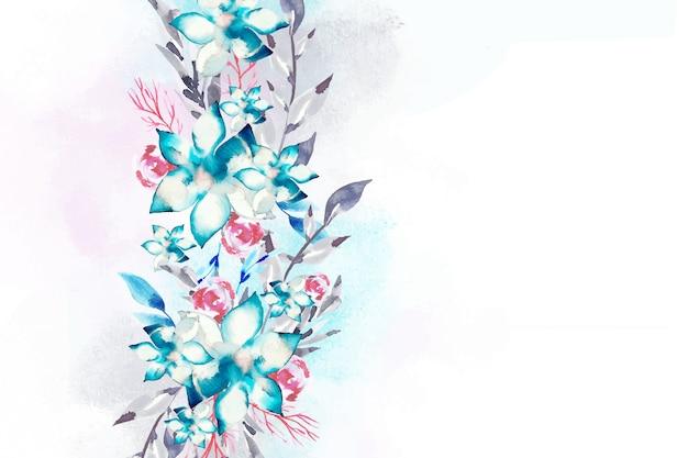 Concetto di sfondo floreale dell'acquerello Vettore gratuito