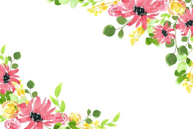 수채화 꽃 배경 개념 무료 벡터