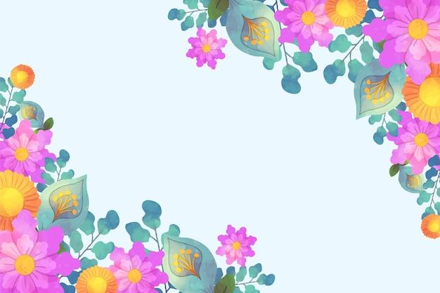 Disegno di sfondo floreale ad acquerello Vettore gratuito