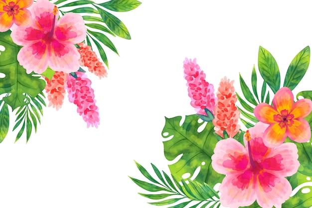 수채화 꽃 배경 디자인 무료 벡터