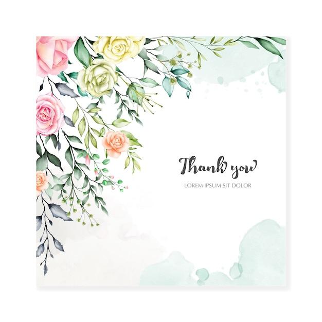 Watercolor floral background multi-purpose floral frame Premium Vector
