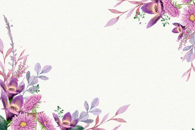 Watercolor floral background in pastel colors Premium Vector