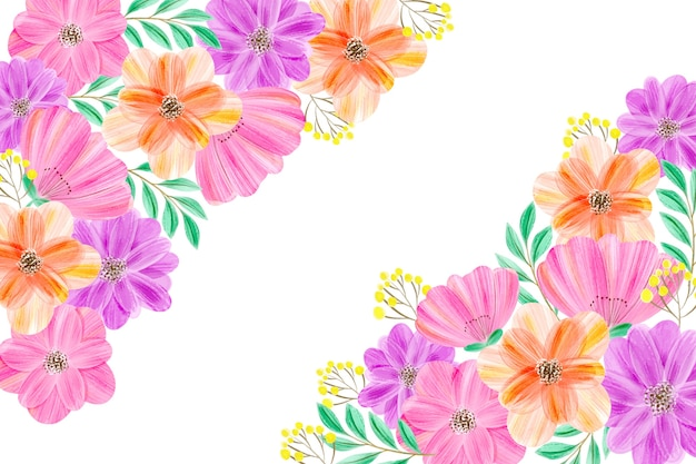 Watercolor floral background in pastels Free Vector