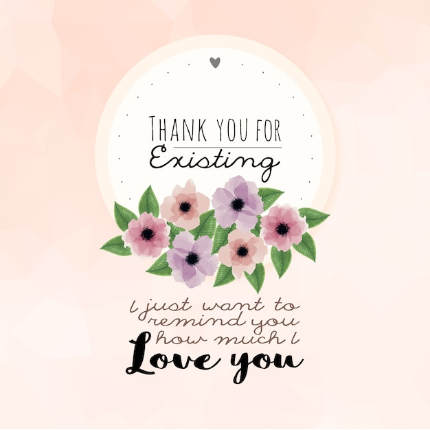 watercolor floral background a love quote vector