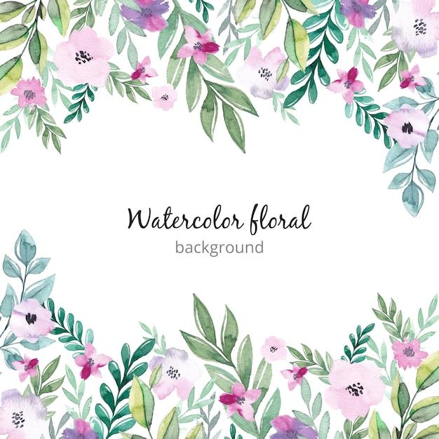 Watercolor floral background Premium Vector