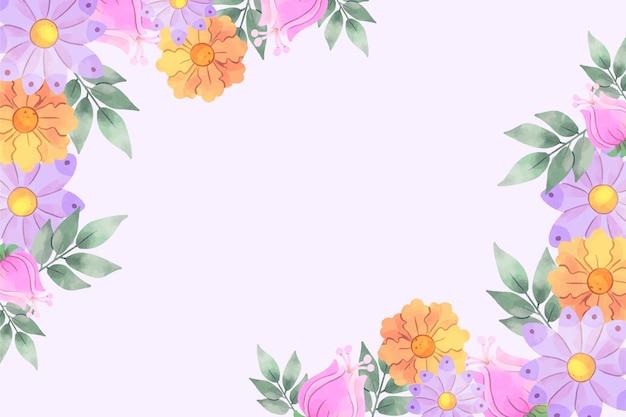 수채화 꽃 배경 무료 벡터