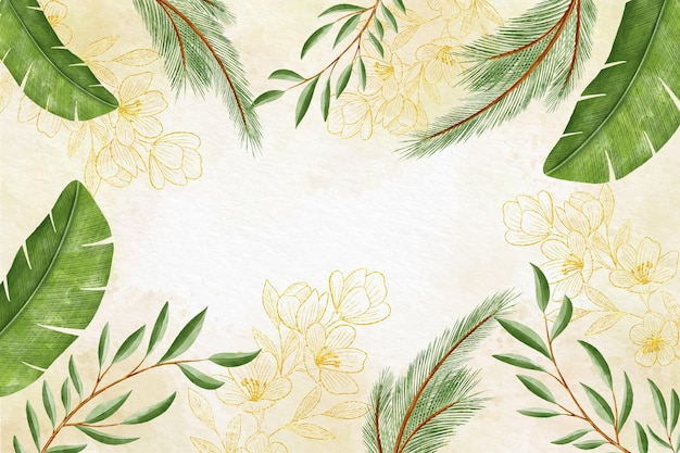 Watercolor floral background Free Vector