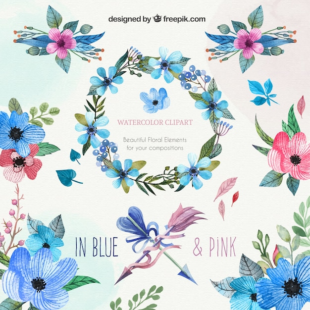 watercolor flower clipart free - photo #18