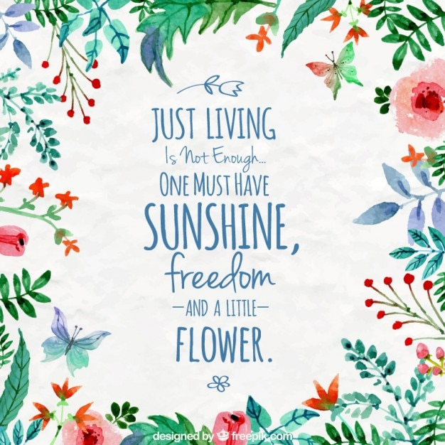 Inspirational Quotes Watercolor