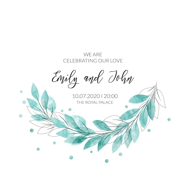 Watercolor floral frame. Free Vector