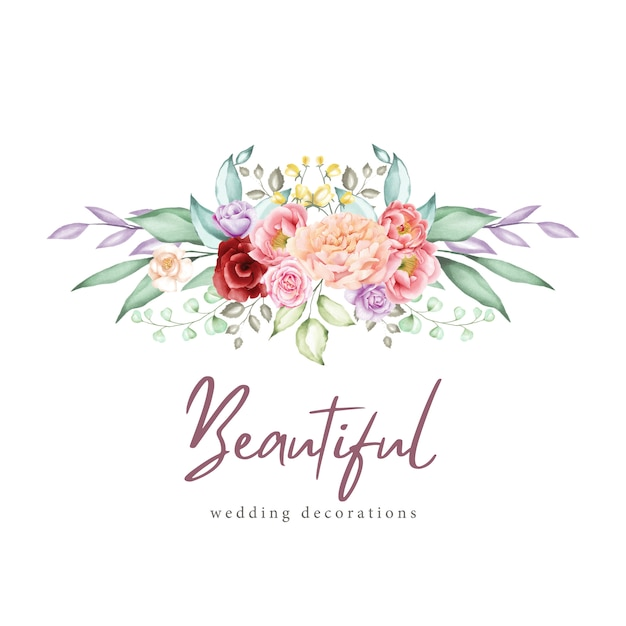 Watercolor floral greeting card and invitation template Premium Vector