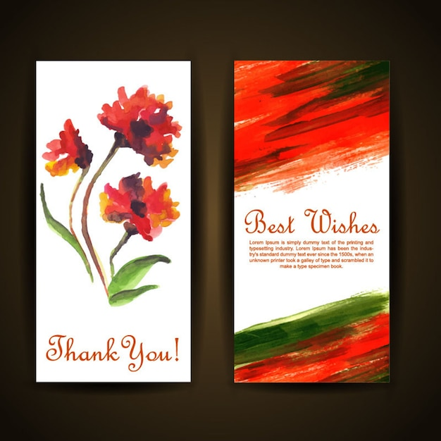 Watercolor floral greeting card vector premium download watercolor floral greeting card premium vector m4hsunfo