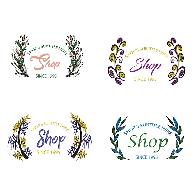 Watercolor Floral Logo Collection