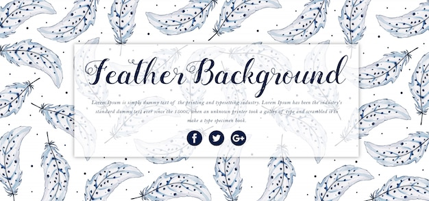 Watercolor floral merry christmas banner Premium Vector