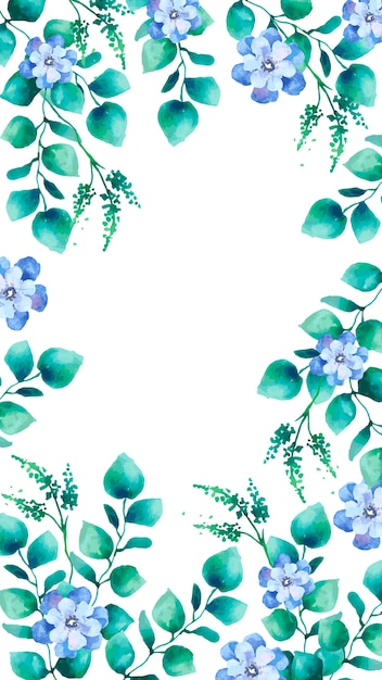 Watercolor Floral Mobile Screen Wallpaper Vector Free Download