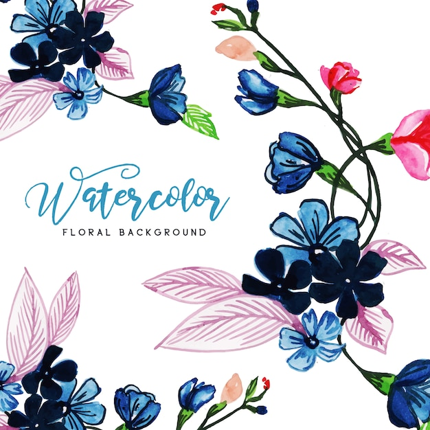 Watercolor floral multipurpose background Free Vector