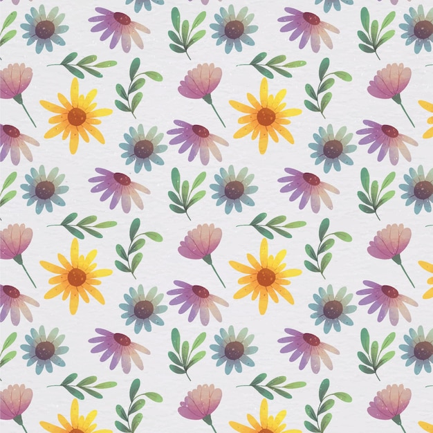 Watercolor floral pattern Free Vector