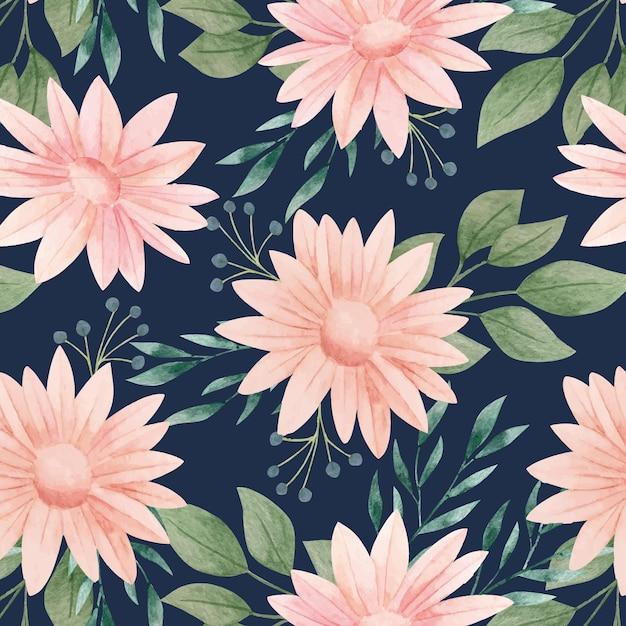 Motivo floreale dell'acquerello Vettore gratuito
