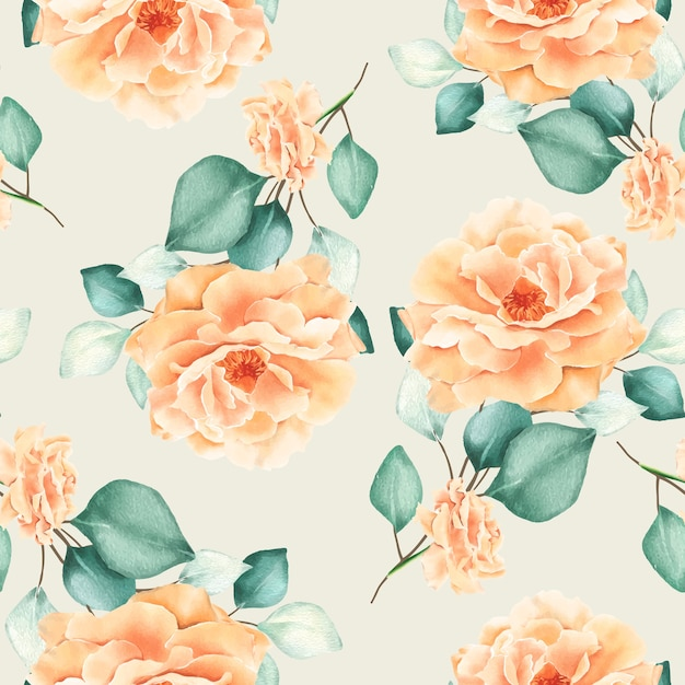Watercolor floral seamless pattern Free Vector