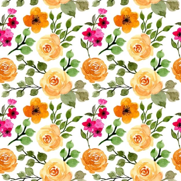 Watercolor floral seamless pattern Premium Vector