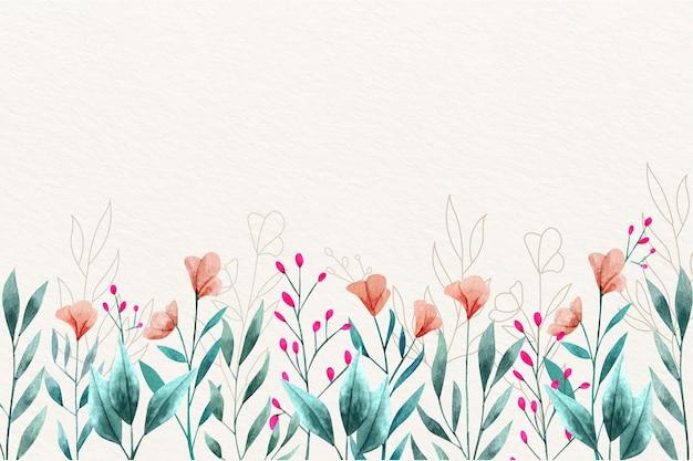 수채화 꽃 벽지 개념 무료 벡터