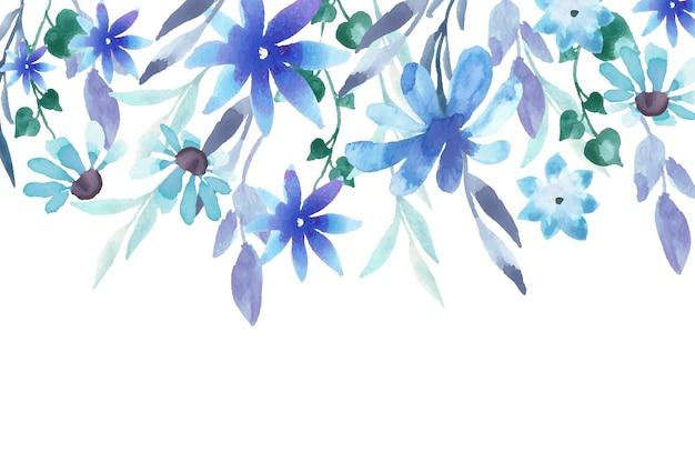 수채화 꽃 무늬 벽지 디자인 무료 벡터