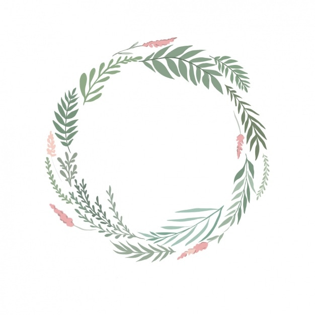 Watercolor Floral Wreath Free Vector