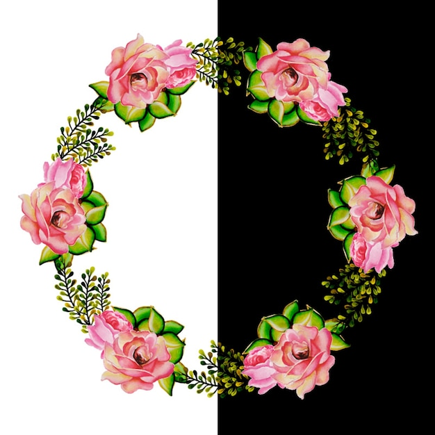 Watercolor Floral Wreath Free Vector