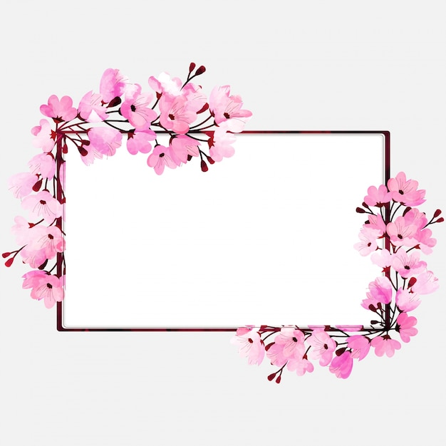 Watercolor florals decorated, beautiful frames with space for your ...