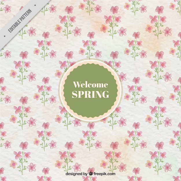 Watercolor flowers background in vintage\ style