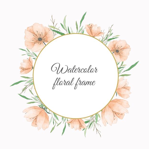 watercolor flowers frame in peach color vector premium swirl vectors png swirl vector free download