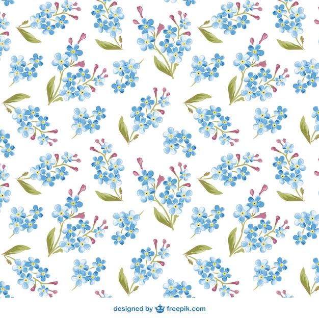 Watercolor flowers pattern Free Vector