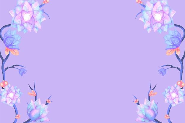 Free Vector Watercolor Flowers Wallpaper In Pastel Colors Design