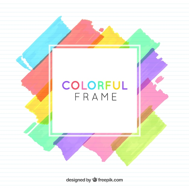 Watercolor frame background Free Vector