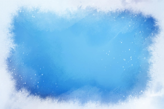 Watercolor frozen winter background Premium Vector