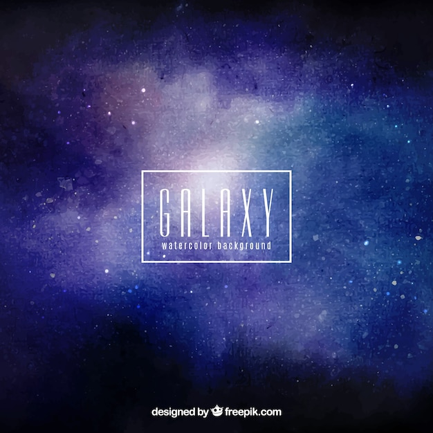 Watercolor galaxy background and stars