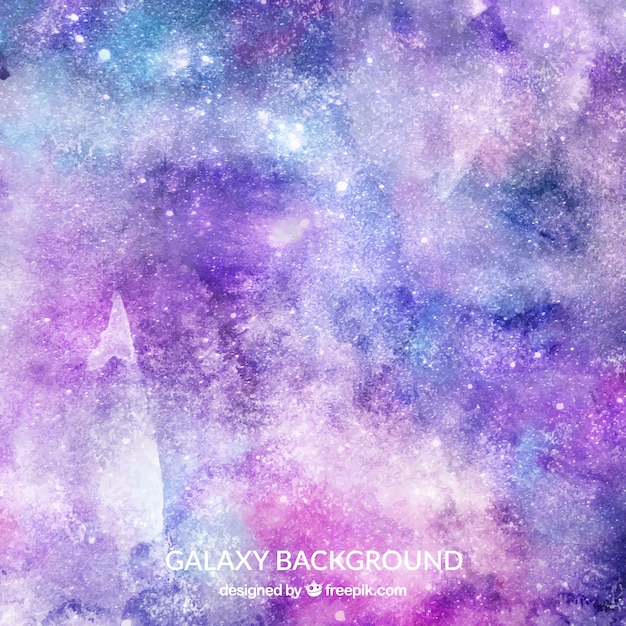 watercolor galaxy background vector free download
