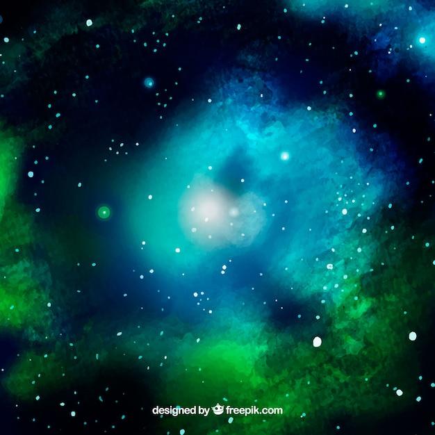 Watercolor galaxy background