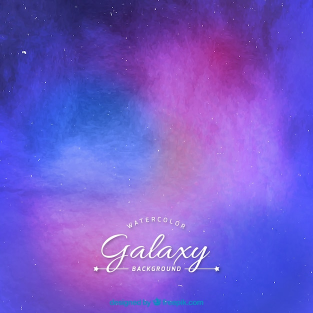 Watercolor galaxy colorful background