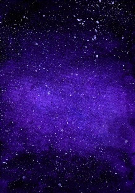 수채화 은하 깊은 공간 별이 빛나는 밤 배경 프리미엄 벡터