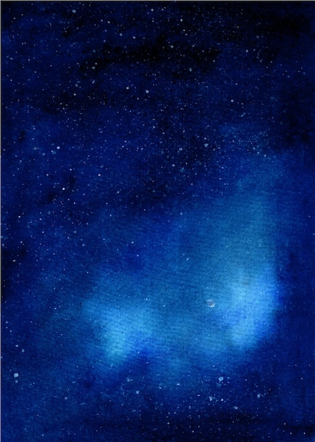 수채화 은하 별이 빛나는 밤 배경 프리미엄 벡터