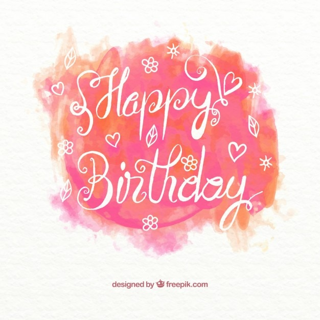 Watercolor Happy Birthday Card Stock Images Page Everypixel