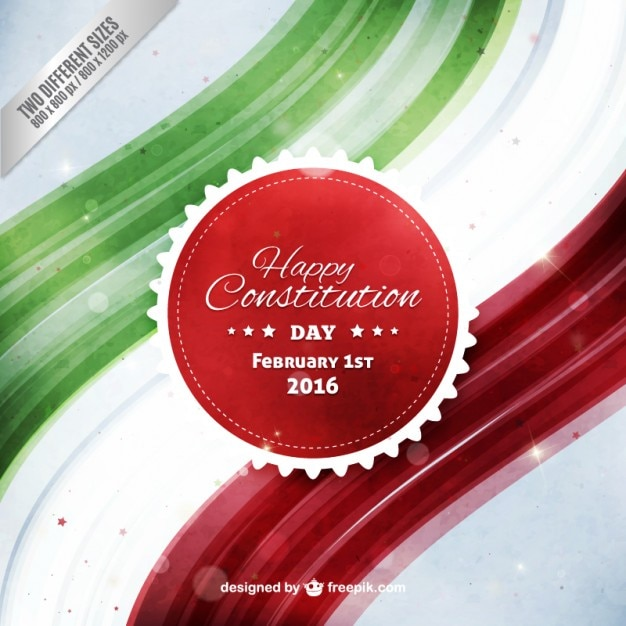 Watercolor happy mexican constitution day background Free Vector
