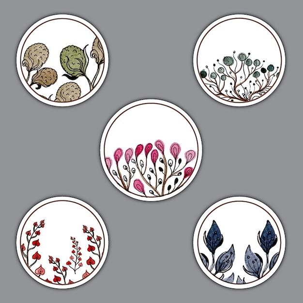 Watercolor Herbs Coins Designs Free Vector