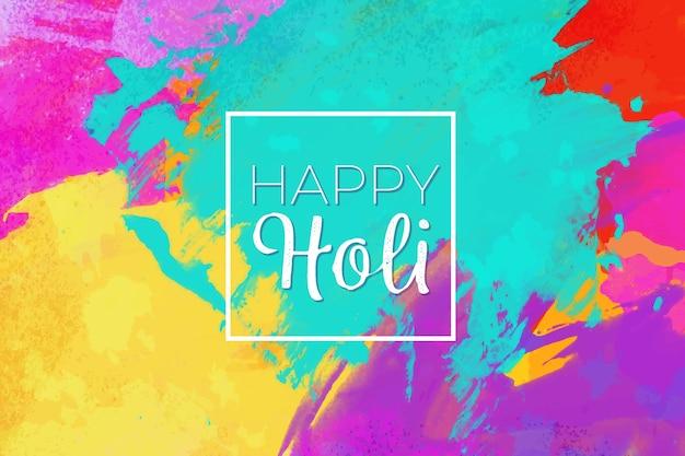Watercolor holi festival screensaver Free Vector