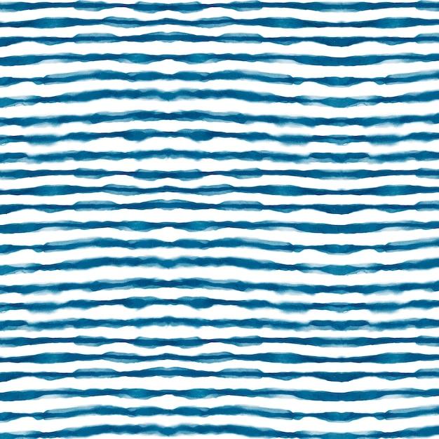 Acquerello linee orizzontali shibori pattern Vettore gratuito